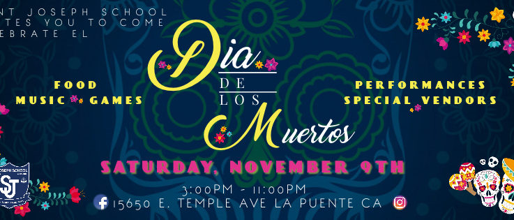 Dia De Los Muertos Saturday, November 9th