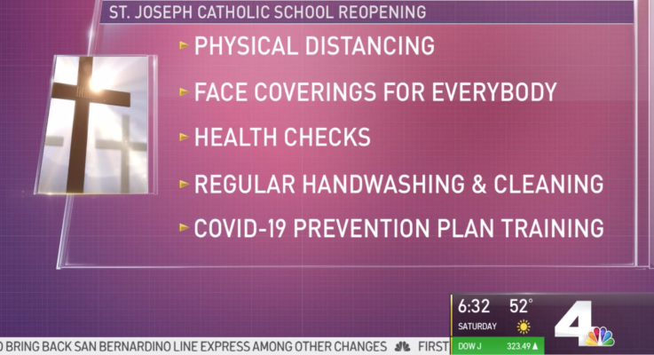 Classes Resume In-Person at St. Joseph Catholic School